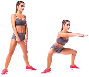 squatting groin stretch